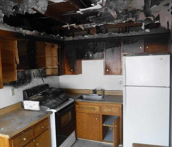 Image shows the result of a protein fire in the kitchen